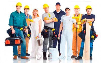 grupo de diversas profesiones de autonomos