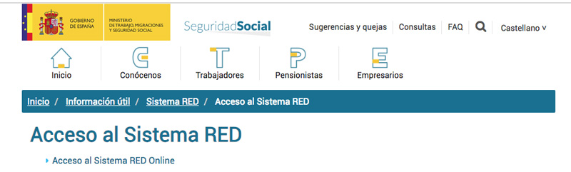 El sistema RED amplía las gestiones